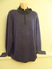 * Mens Size 3XL XXXL Robert Graham Purple Gray 100% Cashmere Sweater #ANAK