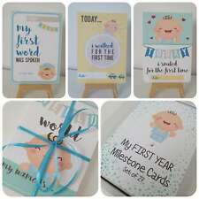27 BABY Milestone Photo Cards Boy Girl First 1st Year Memorable Shower Gift