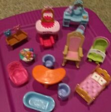 FISHER PRICE LOVING FAMILY DOLL HOUSE FURNITURE and Other LOT