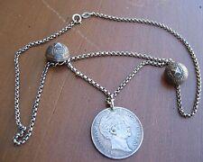 Silber Münze Bayern 1855 Tracht Charivari Lederhose Oktoberfest Uhrkette Knöpfe