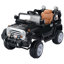 New Kids Ride On Car 12V Electric Battery 4CH Remote Control Jeep Toys MP3 Black