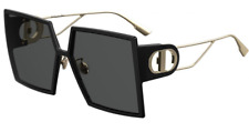 Dior sunglasses 30 Montaigne in 8072K black and gold with case and cloth 58mm