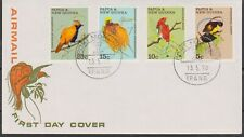 PAPUA NEW GUINEA P.N.G 1970 Birds of Paradise/Fauna Conservation SG 173-176 FDC