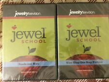 Jewel School DVD Lot of 2 Beads And Wire, Wire Wrap One Step Further - NEW
