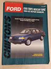 FORD TEMPO Mercury Topaz 1984 - 1992 CHILTON Repair Guide Manual 8271