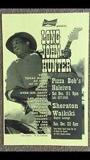 "LONG JOHN HUNTER ORIGINAL VINTAGE HAWAII CONCERT POSTER ""Texas Blues"""