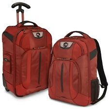 Cross Point Carry-on Ballistic Nylon Wheeled Upright Laptop Backpack Luggage Set