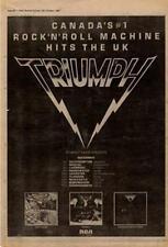 Triumph Tour Advert NME Cutting 1980