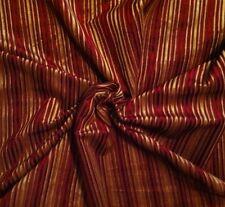 PIERRE FREY Emperor Red Gold Stripe Velvet Cotton 14 yds. New