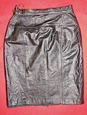 Women's Black Leather Skirt Size 28x23