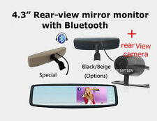 "4.3"" Specical rear view mirror car monitor with Bracket Bluetooth+ color Camera"