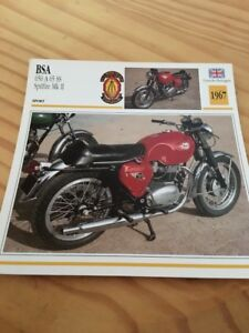 BAS 650 A65SS Spitfire MKII 1967 Carte moto Collection Atlas