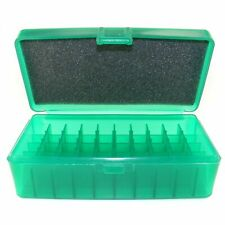 Fs Reloading Plastic Flip top Ammo Box Translucent Green Lp-50-Green