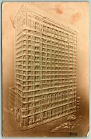Postcard NY New York Empire Building Vintage Embossed c1900s Posted