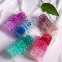 10PCS Spiral Hair Bobbles Elastic Coil Ponytail Wire Ties Stretchy Bands Holder