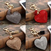 Heart Crystal Rhinestone Keychain Bag Keyring Handbag Pendant Key Chain Gift