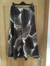 Hobbs Brown Long Linen Skirt - Size 8