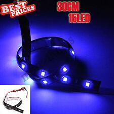 Di 30cm 15 SMD LED in auto per neon Grill luce della lampada della striscia Blu