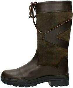 Ladies Short Country Boots Outdoor Walking Riding Leather Anti-Slip Rubber Sole
