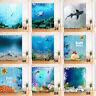 72x72'' Vintage Sea Sharks Coral Reef Bathroom Shower Curtain Waterproof Fabric