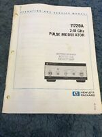 Hewlett Packard HP 11720A 2-18 GHz Pulse Modulator Operating And Service Manual