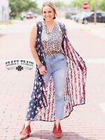 Liberty Lace Reversable Duster Vest