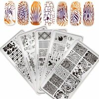 NICOLE DIARY Stamping Plates Animal World  Nail Art Image Plates