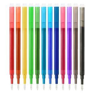 12 Pcs Friction Erasable Pen Refills Colour – 0.7 mm Tip Pen Refills PENCILMARCH