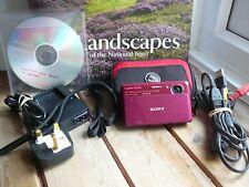 Sony Cyber-shot DSC-TX7 10.2MP Dig Camera - RED, case, 2gb SD, Batt, Chgr etc