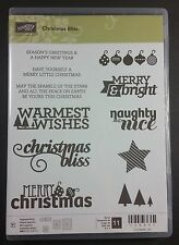 Stampin' Up! Christmas Bliss Photopolymer Stamp Star Ornament Tree Naughty Nice