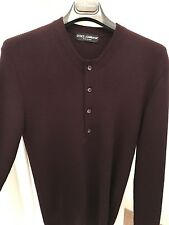 Dolce & Gabbana Henley Sweater. Pure Virgin Wool. RRP £425. Mainline Collection