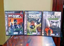 Tom Clancy's Splinter Cell: Pandora Tomorrow, Chaos Theory, & Double Agent PS2