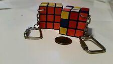 Rubik's Cube Vtg Keychain 2pc Lot Pocket Travel Mini Square 1980's