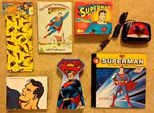 Superman Lot: Alarm Clock, CD Box Set, Books, Note Cards, Gift Bags, Tin Box