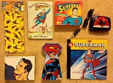Superman Lot: Alarm Clock, CD Box Set, Books, Note Cards, Gift Bags, Tin Box