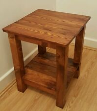 Side Table Rustic Wood Side Table, End Table (reclaimed wood)
