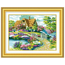 DIY Landscape Painting kits,11ct scenery home Cross-stitch,Sets For Embroidery