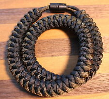 550 Paracord Snake Weave Survival Necklace Olive Drab/Black (21 inches)