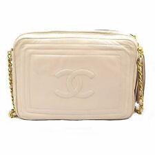 Vintage Chanel Blush Pink Leather Crossbody hand Bag