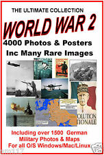 4000 Alied & Axis WW2 Photos Maps etc British German US Japanese Rare Pictures