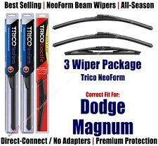 3pk Wipers Front & Rear NeoForm - fit 2005-2008 Dodge Magnum - 16220x2/10E
