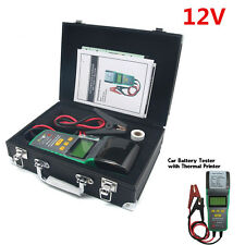 12V Autos Car Battery Tester Load Battery Analyzer Professional Tool W/Printer