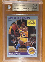 POP 1!🔥💎1990-91 Magic Johnson NBA HOOPS #157 BGS 9.5🔥    PSA topps larry bird