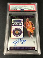 SHAQUILLE O'NEAL SHAQ 2019 PANINI CONTENDERS PLAYOFF TICKET AUTO /35 PSA 9 TOUGH