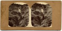 Rara Berna Svizzera Cascata Rosenlani Foto stereoscopica albumina 1860c S1404