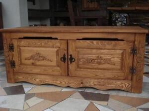 Wooden Blanket Storage Cabinet Trunk Unit Vintage Chest Shelve Furniture (ID1)