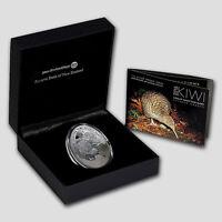 New Zealand Kiwi - 2016 - Silver $1 Proof Coin-  1 OZ   Kiwi Egg Specimen!!