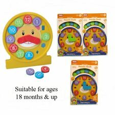 Childrens Number Clock Learning Educational Toy Kids Puzzle