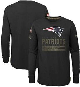 New England Patriots Nike Youth Boys 2020 Salute To Service Long Sleeve Shirt