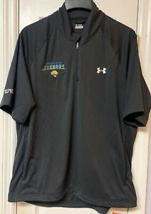 Under Armour Jacksonville Jaguars All Season Gear Golf Pullover Men Medium Black